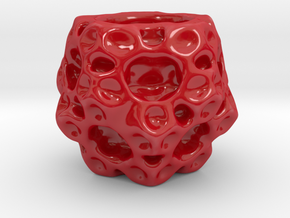 lampion dodeca fractal in Gloss Red Porcelain