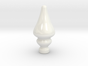 Porcelain Tear Drop Plug in Gloss White Porcelain