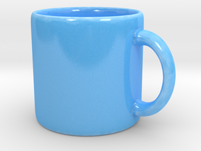 Coffee mug in Gloss Blue Porcelain