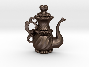 TeaPot 09 00 2016 in Matte Bronze Steel