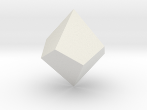 Square Trapezohedron in White Strong & Flexible