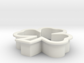 Clover Icing Cutter in White Strong & Flexible