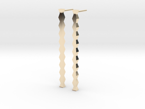 Coloana 2 Earrings in 14k Gold Plated