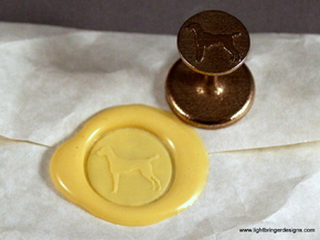 Vizsla (dog) Wax Seal in Stainless Steel