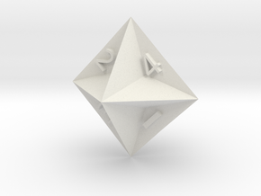 d4 Semiconvex Octohedron in White Strong & Flexible