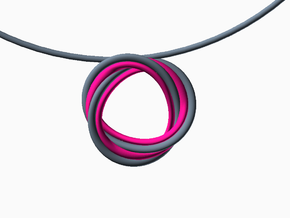 Mobius trifol necklace in Pink Strong & Flexible Polished