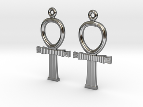 Ankh EarRings - Pair - Precious Metal in Premium Silver