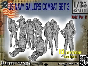 1-35 US Navy Sailors Combat SET 3 in Frosted Ultra Detail