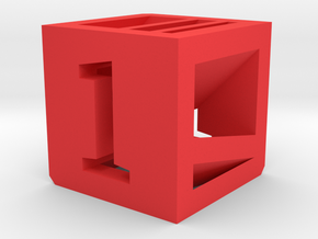 Photogrammatic Target Cube 1 in Red Strong & Flexible Polished