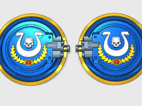 10x Ultra Legion - Aggressor:2 combat shields in Frosted Ultra Detail