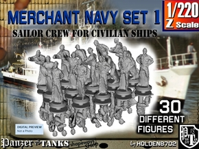 1-220 Merchant Navy Crew Set 1 in Frosted Extreme Detail