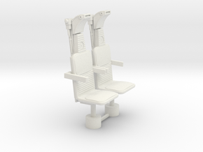 1/18 COCKPIT NAVIGATOR SEATS in White Strong & Flexible