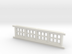 Red Barn Window Section 2x3 White in White Strong & Flexible