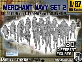 1/87 Merchant Navy Crew Set 2 in Frosted Ultra Detail