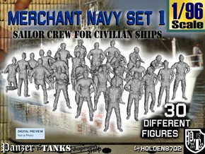 1/96 Merchant Navy Crew Set 1 in Frosted Ultra Detail