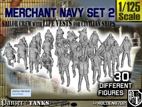 1/125 Merchant Navy Crew Set 2 in Frosted Ultra Detail