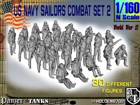 1/160 US Navy Sailors Combat SET 2 in Frosted Ultra Detail