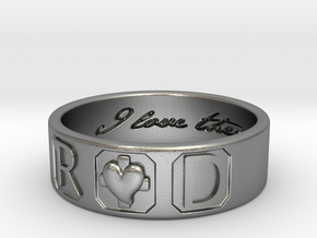 R and D Ring Size 11 in Raw Silver