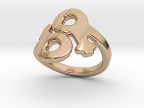 Lesbo Ring 16 – Italian Size 16 in 14k Rose Gold Plated