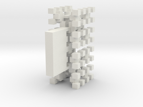 Pixel Tree Wide in White Strong & Flexible