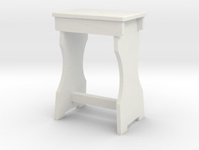 1:32 Shop Stool in White Strong & Flexible