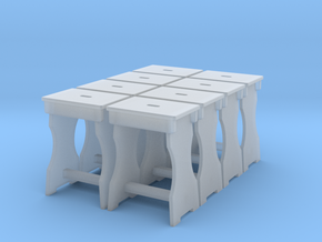 1:48 Shop Stool Set Of 8 in Frosted Ultra Detail