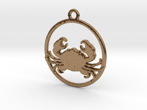 Cancer Pendant in Raw Brass