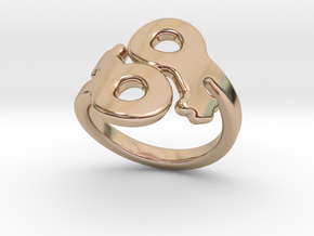 Saffo Ring 18 – Italian Size 18 in 14k Rose Gold Plated