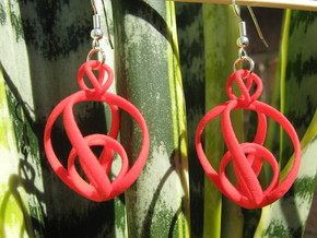 Clelie 1x2 Earrings in Red Strong & Flexible Polished