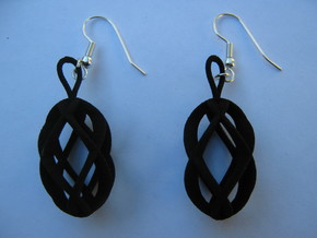 Viviani 4 Earrings in Red Strong & Flexible Polished