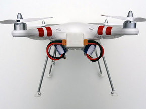 DJI Phantom Wide Battery Landing Gear in White Strong & Flexible