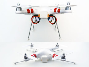 DJI Phantom Foldable Battery Landing Gear in White Strong & Flexible