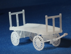 Baggage Cart Kit S Scale Two Pack in Frosted Ultra Detail