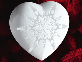 Large Snowflake Heart by Helen & Colin David in White Strong & Flexible