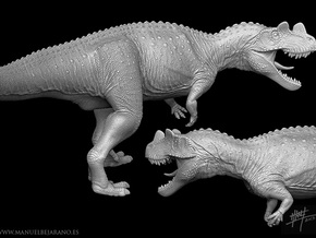 Ceratosaurus 1/40 Attack in White Strong & Flexible