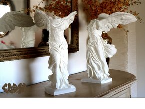 """Winged Victory (10"""" tall) in White Strong & Flexible"""