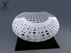 """A la Vasarely"" Bowl (20 cm) in White Strong & Flexible"
