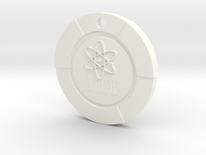 Atomic Wrangler Chip Pendant in White Strong & Flexible Polished