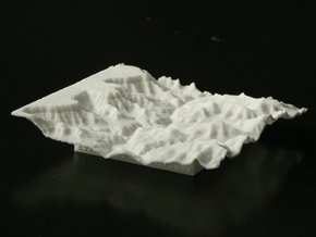 3'' Grand Canyon Terrain Model, Arizona, USA in White Strong & Flexible