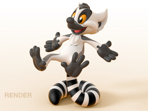 Kiki the Lemur in Full Color Sandstone