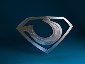 "Zod ""Man of Steel"" Double Sided in Polished Metallic Plastic"