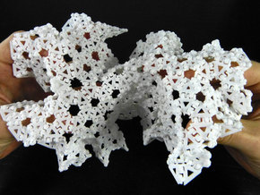 Geodesic saddle ({3,7} radius 3, subdivided 4) in White Strong & Flexible