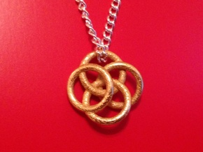 Four Circles Pendant in Matte Gold Steel