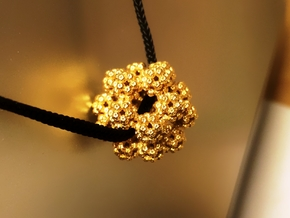 Fractal Dodecahedron Pendant in 18K Gold Plated