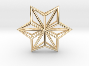 Origami Structure O1, pendant in 14K Gold