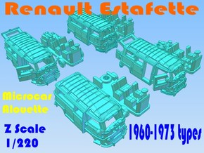 1-220 R-Estafette Microcar SET in White Strong & Flexible