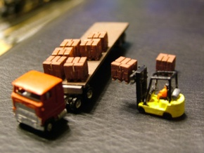 Pallets with Boxes - Set of 9 - Zscale in Frosted Ultra Detail