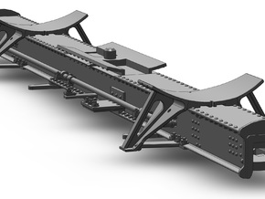 MDC 26 Ft Tank Car Frame (1:87) in Smooth Fine Detail Plastic