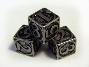 Circle Theme Die6 in Stainless Steel