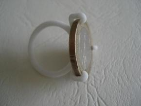 Euro-Ring - Size 9 - 1 euro in White Strong & Flexible